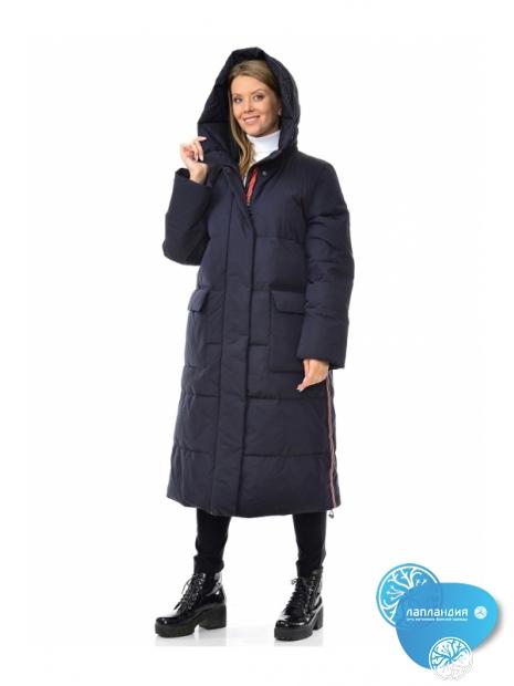 длинное синие зимние пальто с лампасами Dixi Coat 655-289 S Купить магазин финской одежды Лапландия: магазин Новые Черемушки Профсоюзная 45, магазин в Бутово ул Скобелевская 25.
