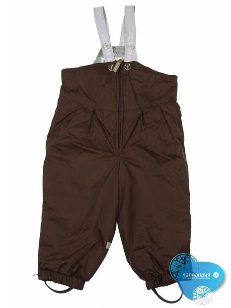 зимние брюки на лямках для  малышей
