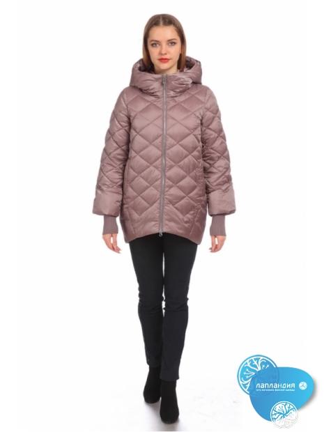 розовая зимняя куртка кокон