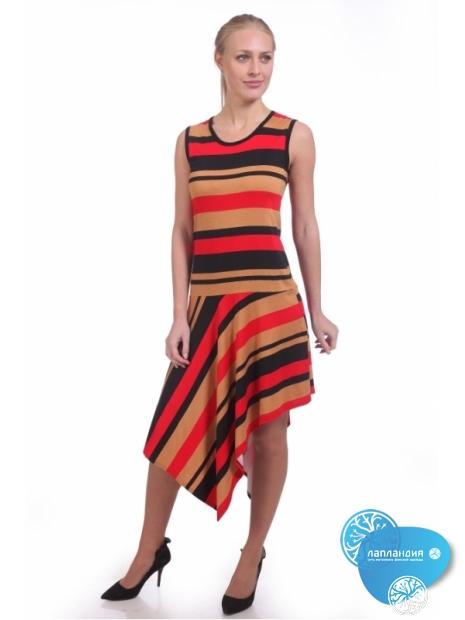ассиметричное платье из трикотажа
