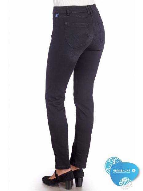 джинсы черные с принтом