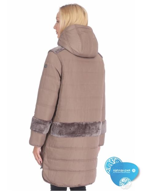 куртка женская с отделкой из искусственного меха