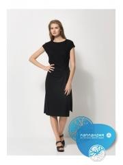 черное платье с драпировкой