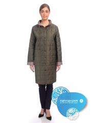 стеганое демисезонное пальто