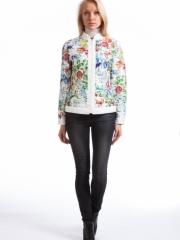 стеганая куртка с цветами