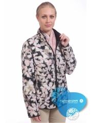 стеганая женская куртка на весну с принтом