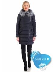 куртка женская с воротником из чернобурки