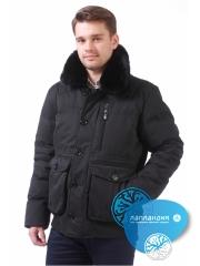 короткая мужская куртка на резинке